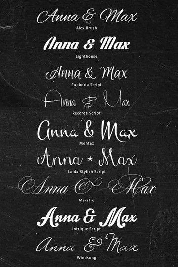 55 Schriften Zum Download Für Eure Hochzeitseinladungen