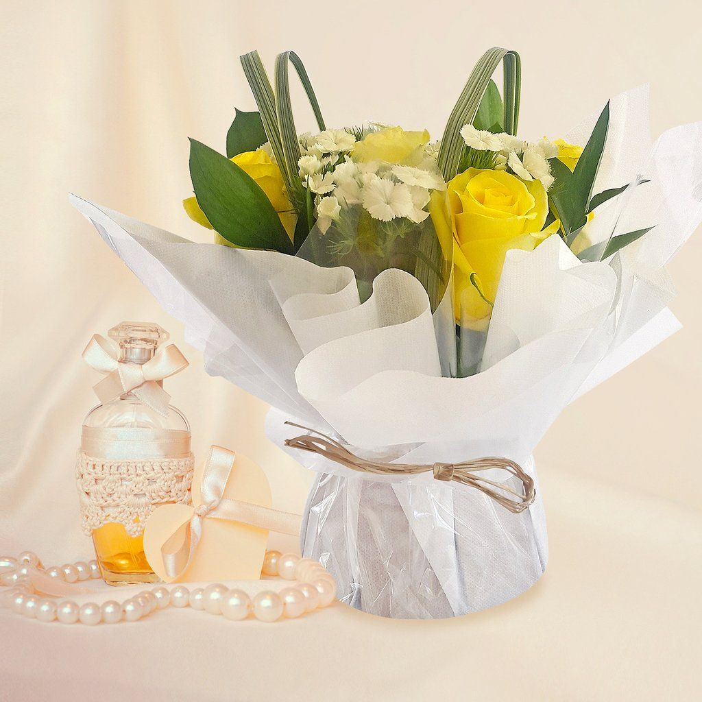 Centerpieces touch of class party white pack 5