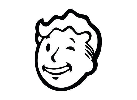 Fallout Vault Boy Wink Face Vinyl Sticker Decal Cool
