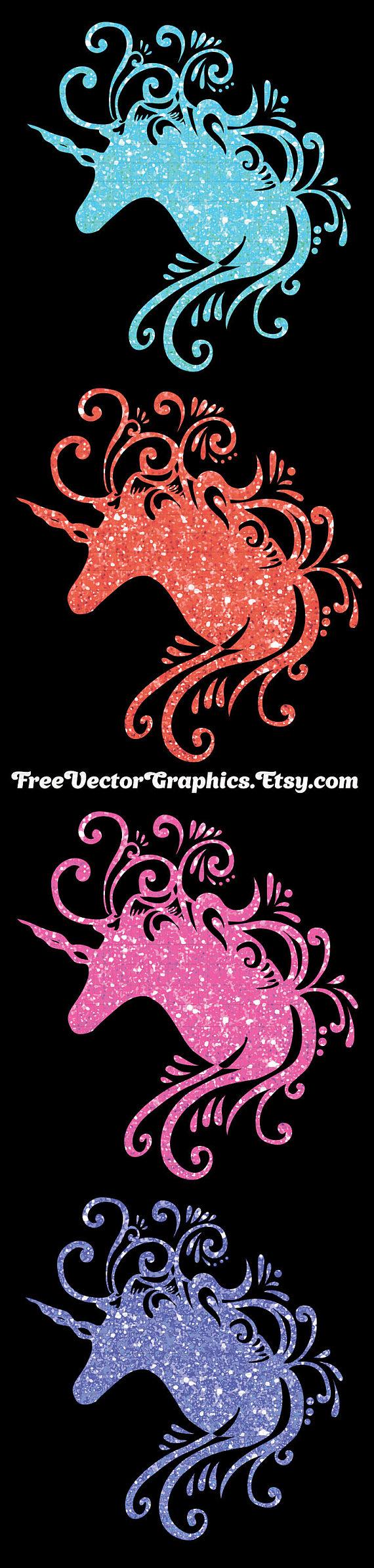 Funny Glitter unicorn clipart Glitter unicorn pictures