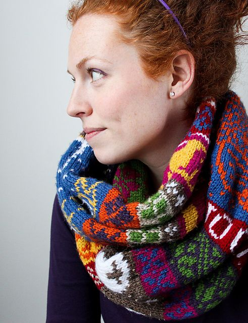 My Favourite Things' Infinity Scarf by Jill McGee - free Ravelry ...