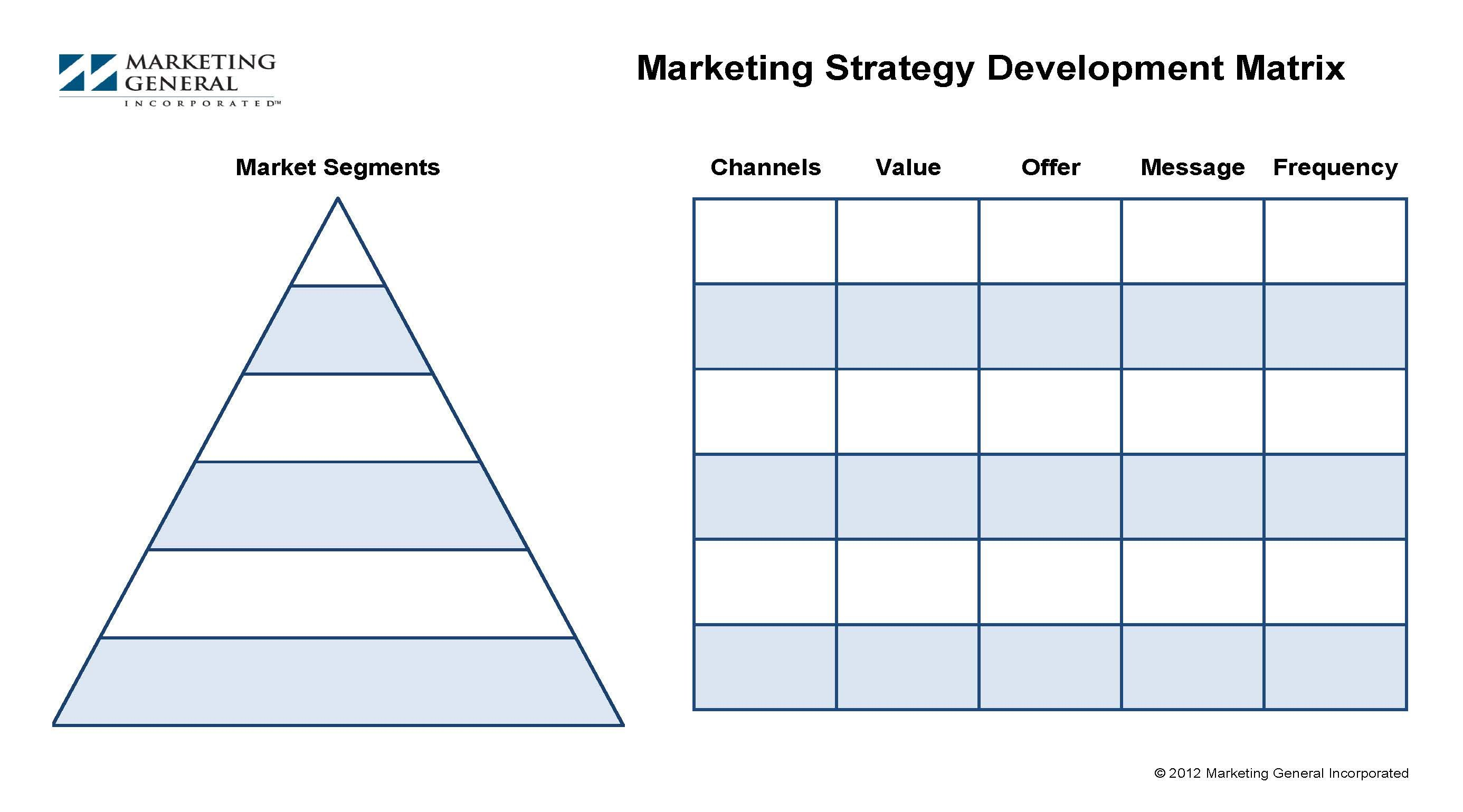 The Membership Marketing Planning Matrix Provides An Easy To Use