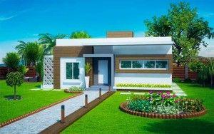 Projetos de casas modernas e baratas Casas Fachadas y Plantas