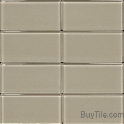 Light Grey 3 x 6 Glass Subway Tile [Light Grey 3 x 6 Glass Subway Tile] - $69.16 : BuyTile