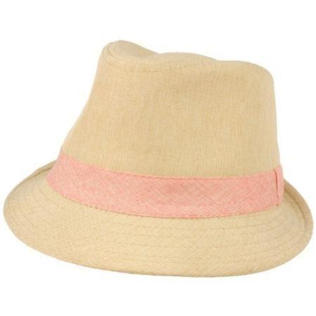 f248b5dfc43 Girls Toddlers Kids Ages 4 Child Summer Sun Fedora Trilby Hat Cap Peach 54cm
