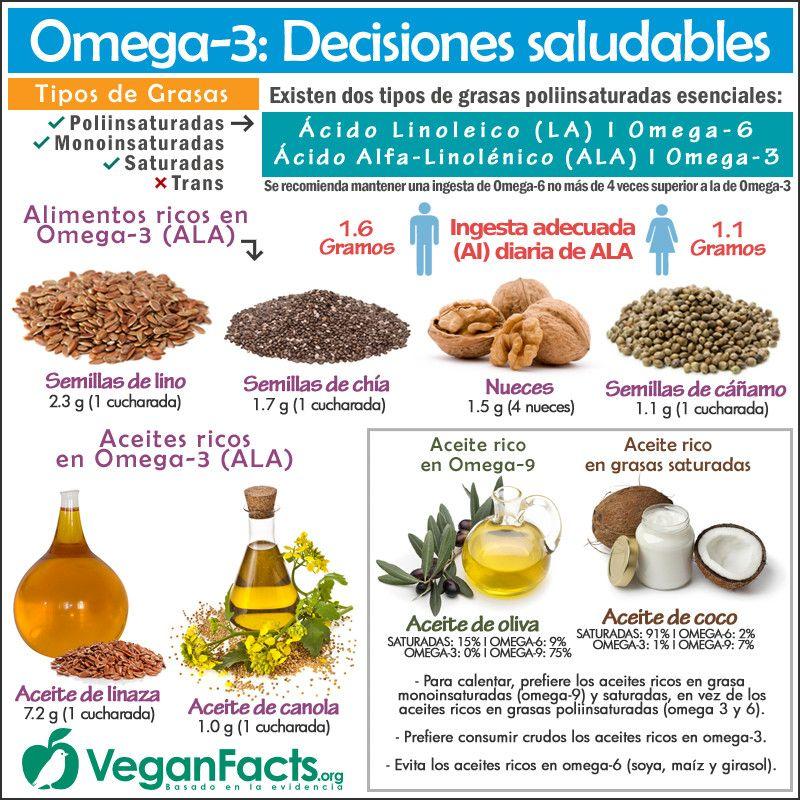 alimentos ricos en acidos grasos y omega 3