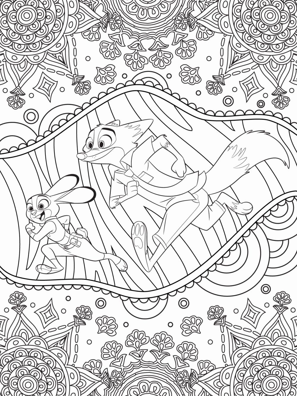Disney Coloring Pages For Adults Unique Celebrate National Coloring Book Day With In 2020 Zootopia Coloring Pages Free Disney Coloring Pages Mandala Coloring Pages