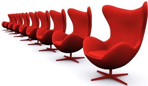 Arne Jacobsen Egg Chair Tweedehands.In The Hot Seat 10 Bright Red Chairs Meubels Interieur En Design