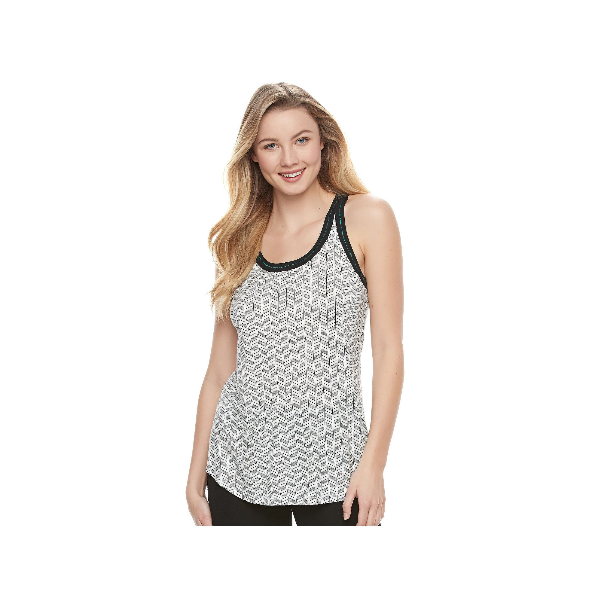 Juniors' Candie's® Chevron Back Tank, Teens, Size: XS, White