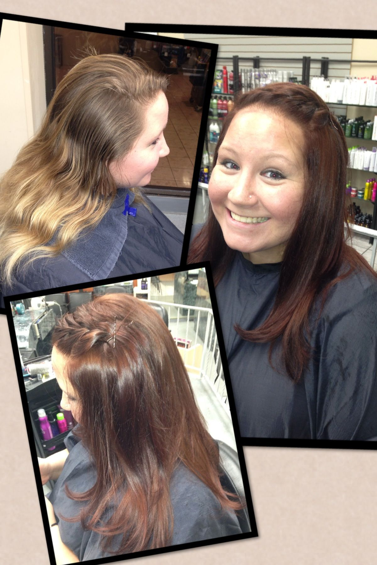 Transformation Ombr Blonde To Copper Brown Hair By Lana At Hair