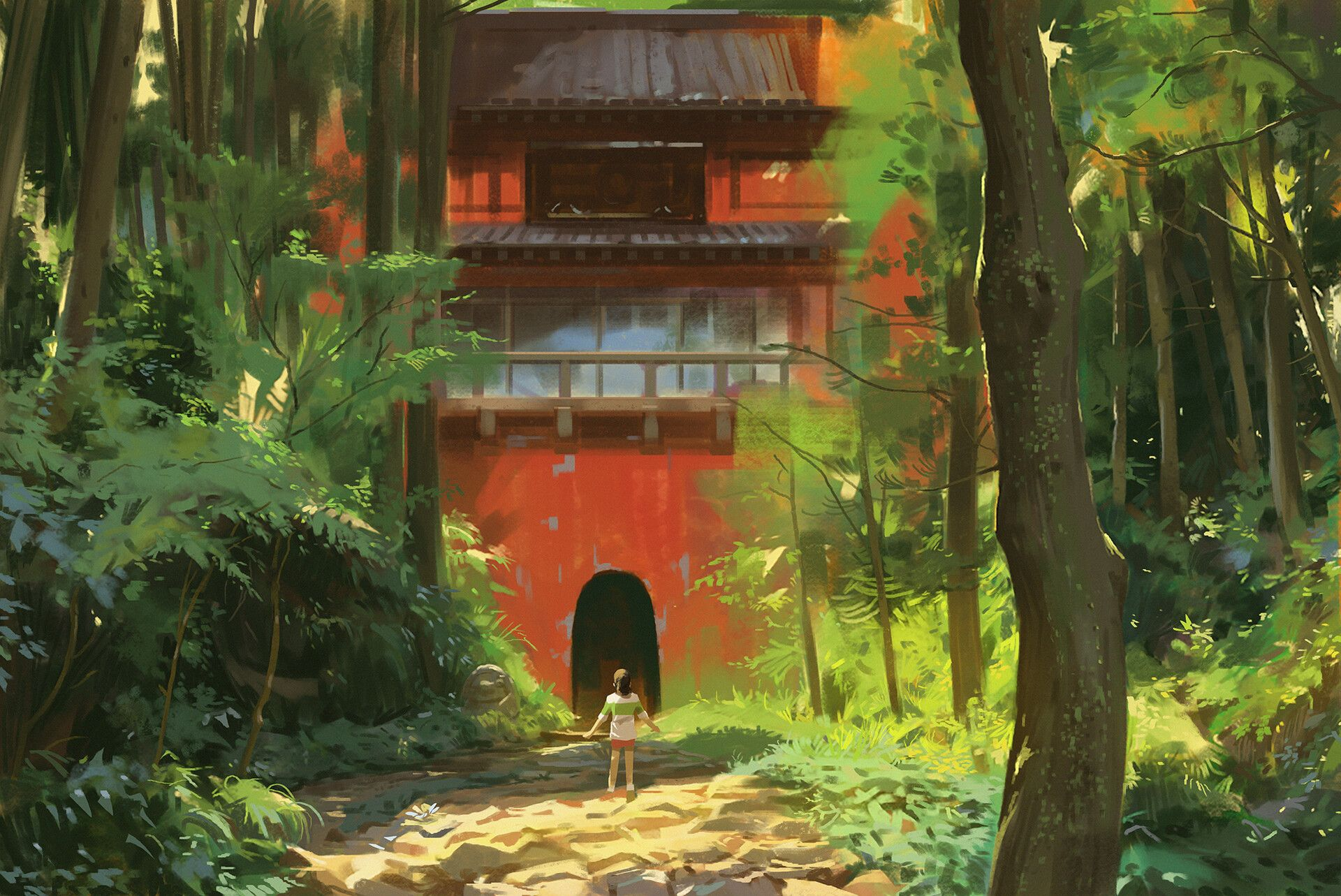 Https Www Artstation Com Artwork Z5mvpx Spirited Away Studio Ghibli Scenery