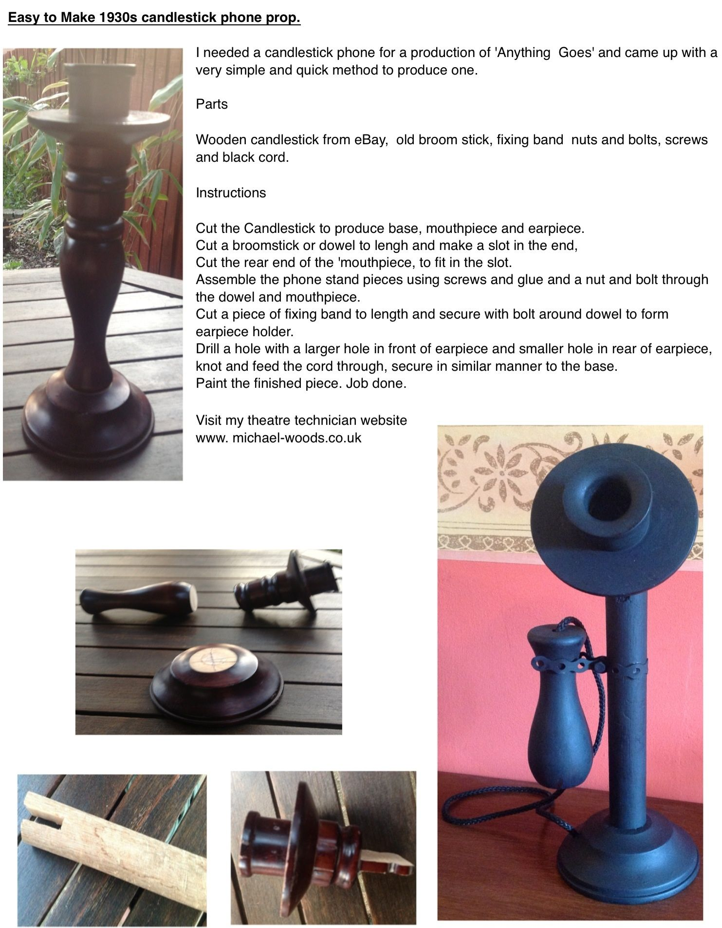 How To Quickly And Easily Make A Candlestick Phone Prop