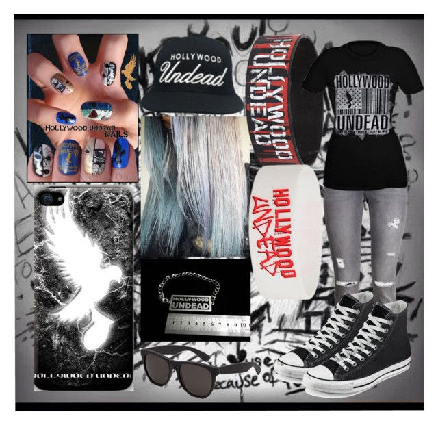 """""""Hollywood Undead"""" by cicerolove ❤ liked on Polyvore featuring H&M, RetroSuperFuture and Converse"""