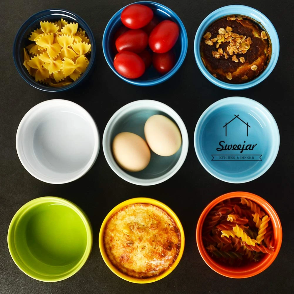 Ceramic Souffle Dishes 8 Oz Set Of 6 Multicolored In 2020