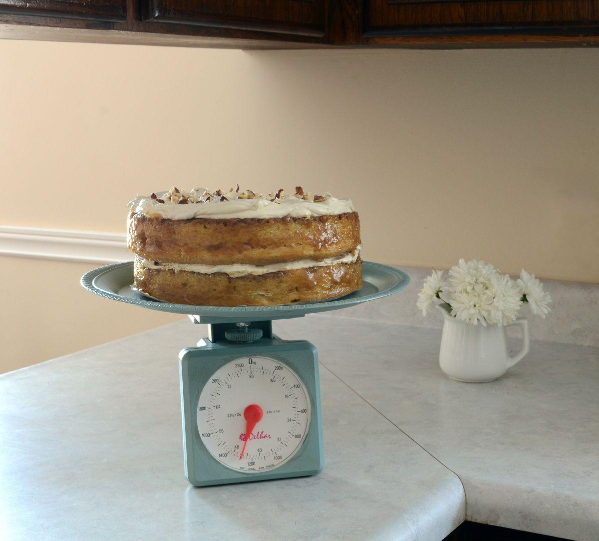DIY Kitchen Scale Dessert Stand: OUR HOMES MAGAZINE