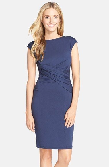 5e9f383fbd Free shipping and returns on KUT from the Kloth Wrap Waist Body-Con Dress  at Nordstrom.com. Elegant crisscrossed ruching nips in the waist of a ...