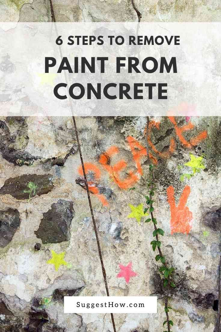 How to remove paint from concrete 6 easy steps remove