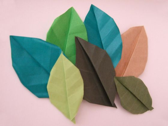 Origami fall leaves origami diagram and leaves learn how to make origami leaves with a selection of diagrams and tutorials simple and mightylinksfo