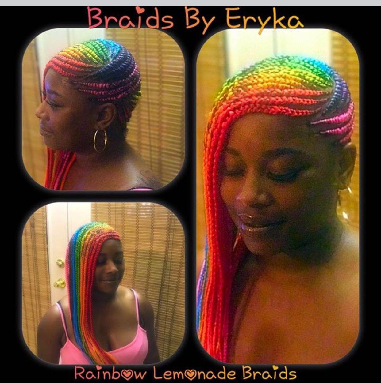 Rainbow lemonade braids By Braids by Eryka Facebook