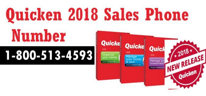Quicken Sales Phone Number 1-800-513-4593, Quicken 2018 Version  Online support, Quicken