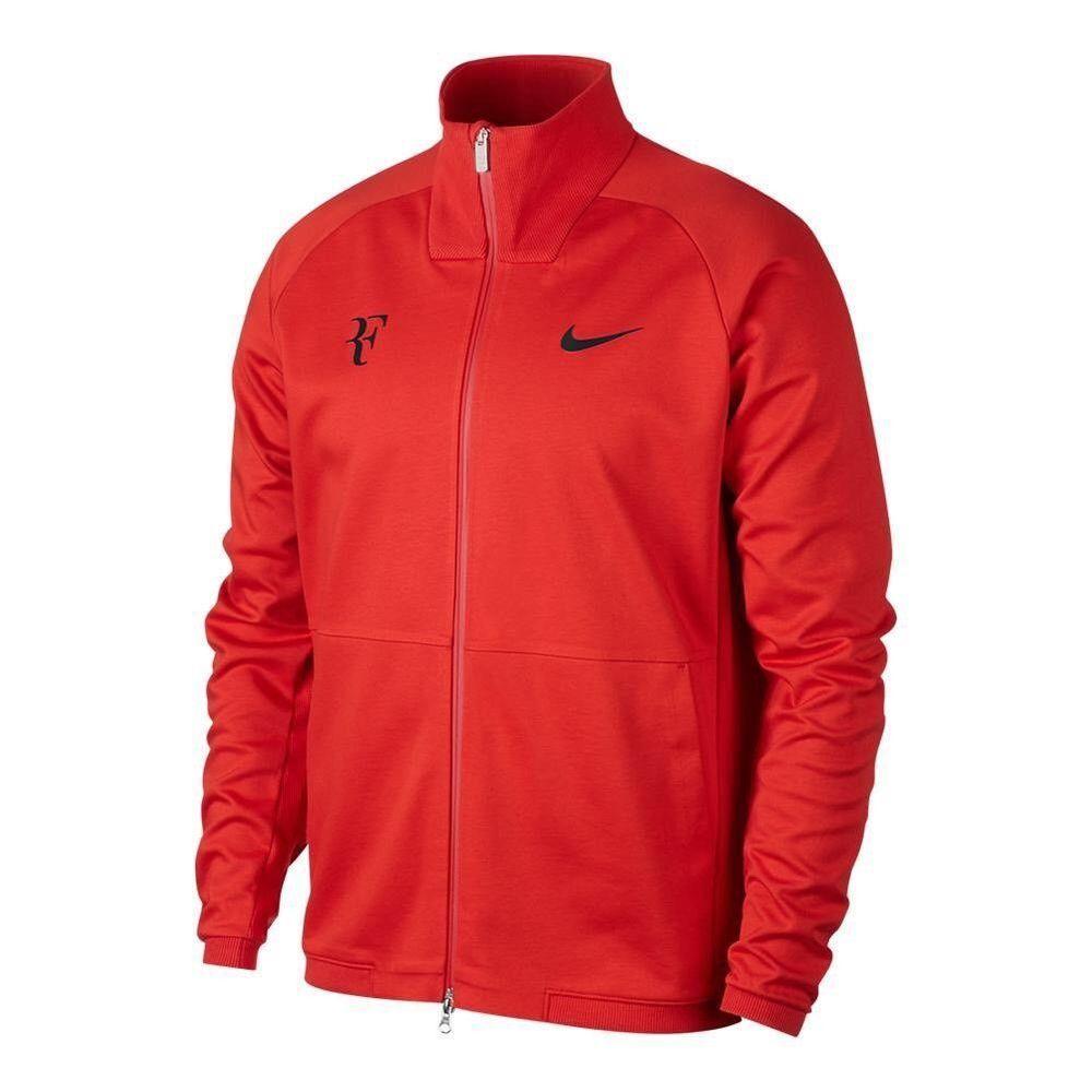 ea36919ee3b3 NIKE NIKECOURT RF ROGER FEDERER TENNIS JACKET HABANERO RED BLACK 887539 634  2XL  Nike