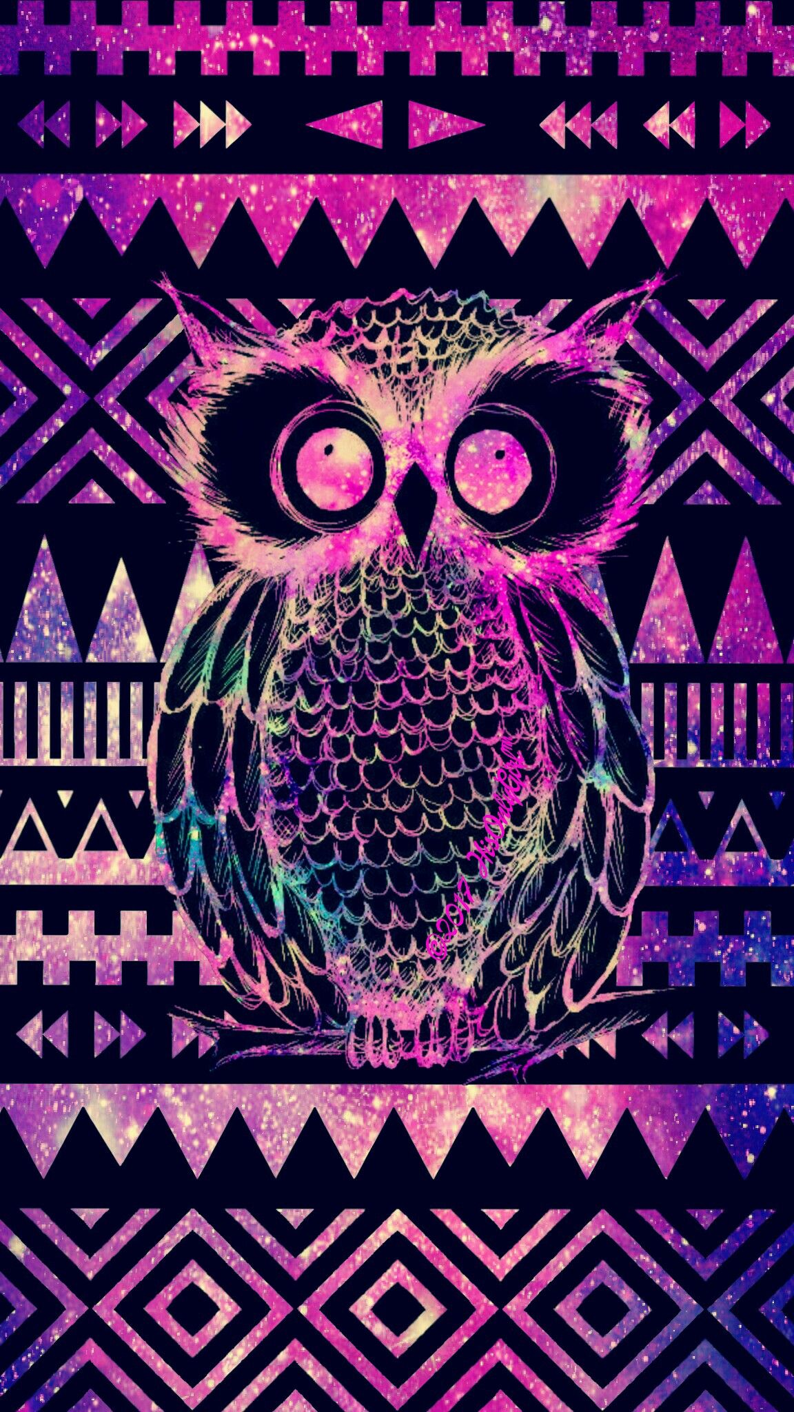 Tribal Owl Aztec Galaxy Wallpaper I Created For The App CocoPPa