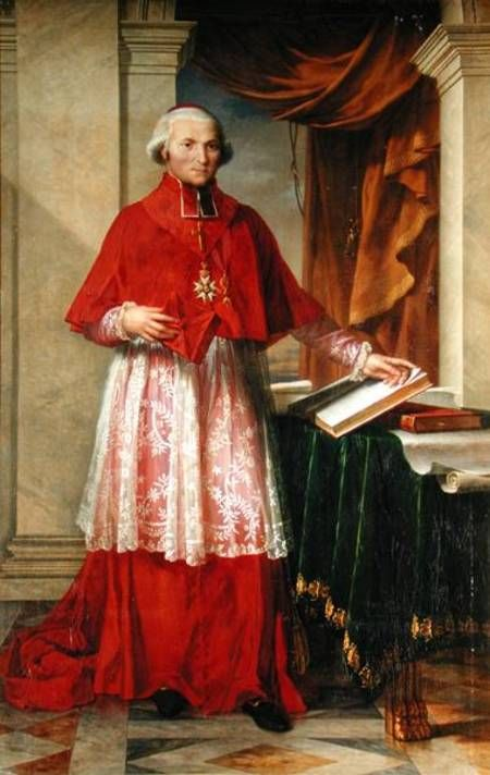 Portrait of Cardinal Joseph Fesch, by Charles Meynier ...