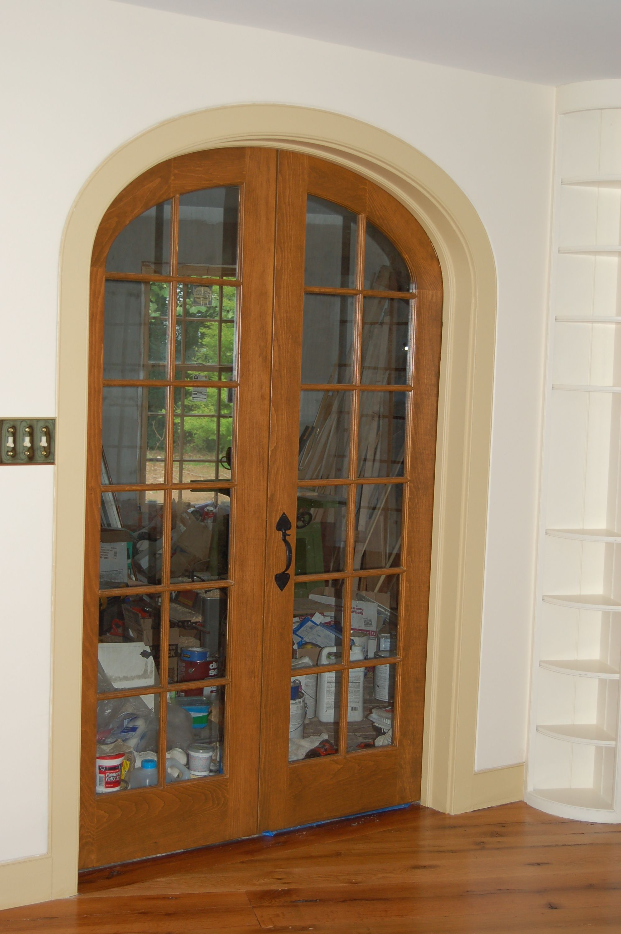 Arch top doors; custom made/built wood; interior exterior entryway french storm screen & Arch top doors; custom made/built wood; interior exterior entryway ...