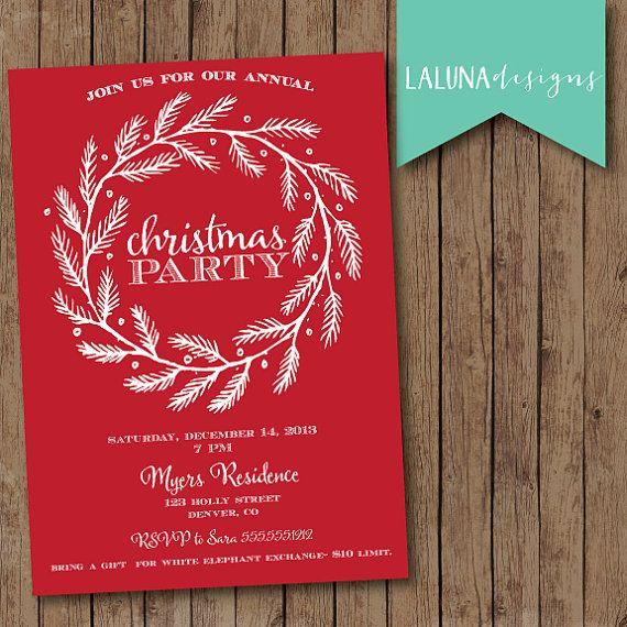Christmas Party Invitation, Christmas Party Invite