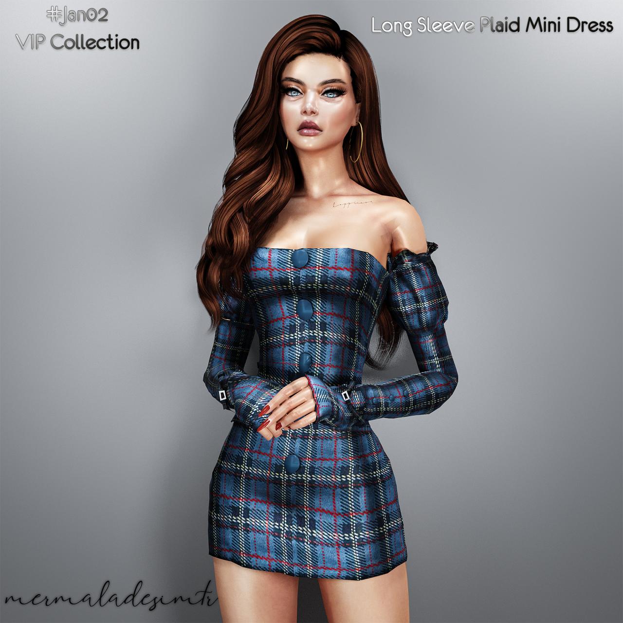 Roli Cannoli Cc Findz Corner Mermaladesimtr Vip Long Sleeve Plaid Mini In 2021 Long Sleeve Plaid Mini Dress Dresses [ 1280 x 1280 Pixel ]