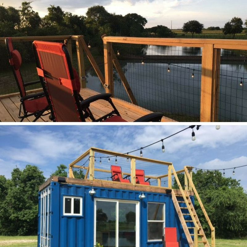 A simple 20foot shipping container is transformed into