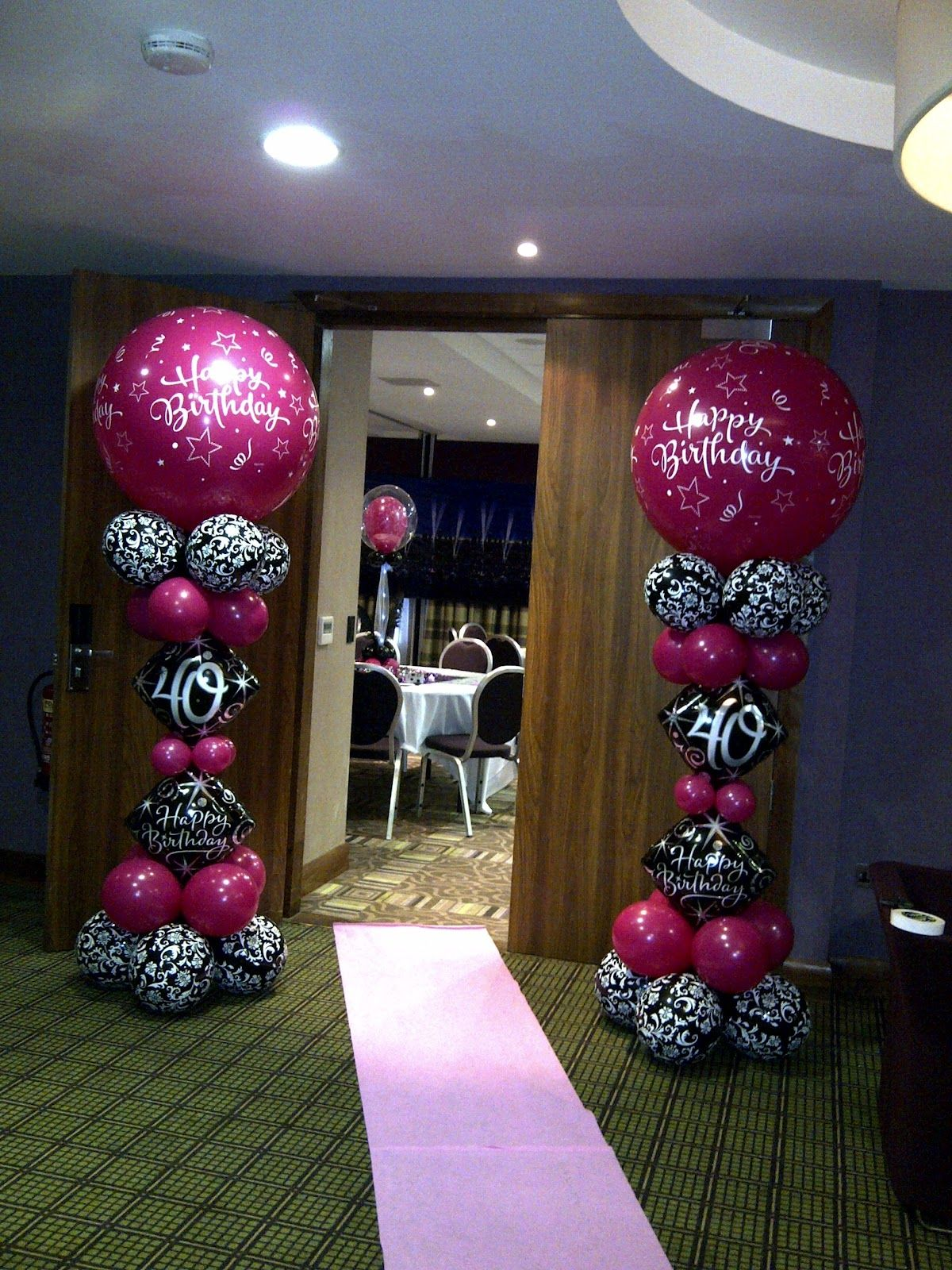 Welcome to party buds 39 balloon world professional for Decoration 40th anniversary