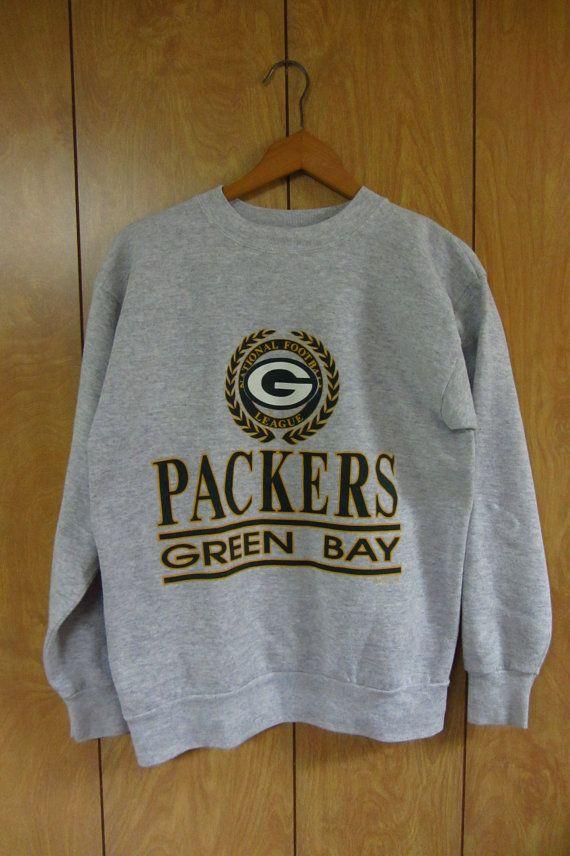 0d766305bab Vintage 90's Green Bay Packers sweatshirt Vintage heather gray NFL ...