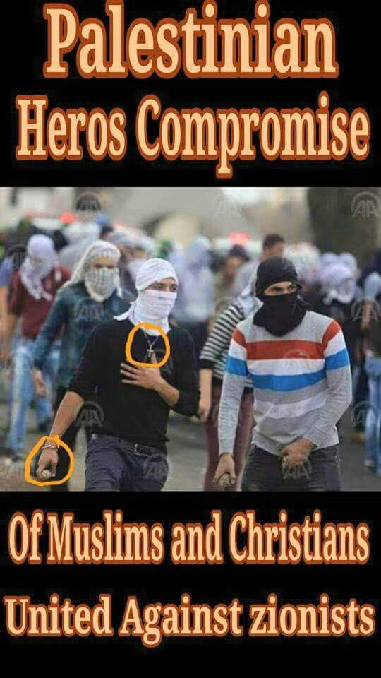 #Muslims and #Christians #UNITED #Against #ZIONIST #TERRORIST #JEWS .-------:  #STOP #TERRORISM #FREE PALESTINE #EndIsraeliOccupation