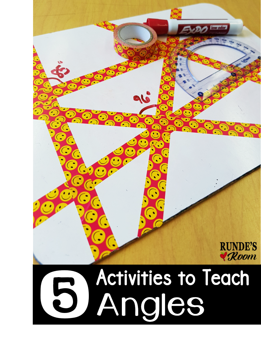 5 Activities to Teach Angles Teaching math Geometry