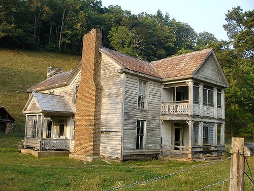 Abandoned VA Farm House Just off of I-77 in Virginia. Awesome house with cool barns and some kind of feed/seed store. There were cows grazing around the yard. Abandoned VA Farm House by DomesticBliss, via Flickr