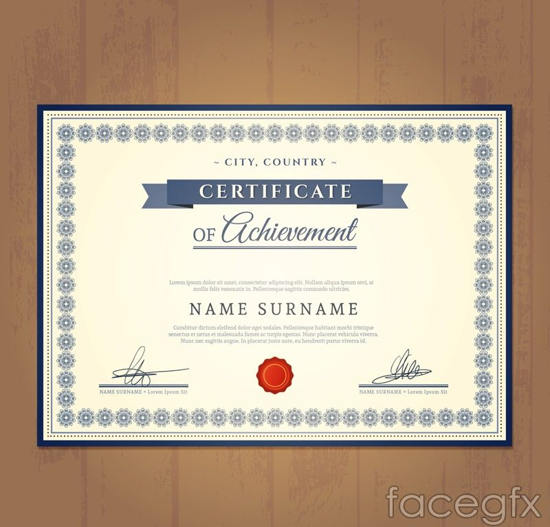 beautiful certificate design vector