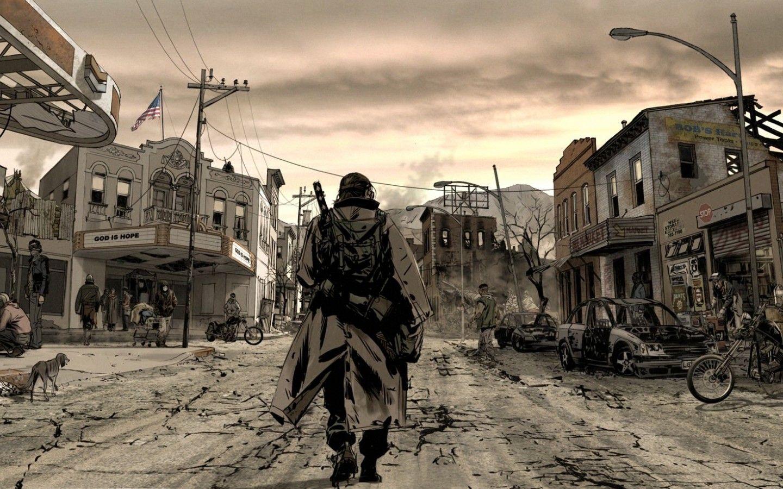 post apocalypse town - Google Search