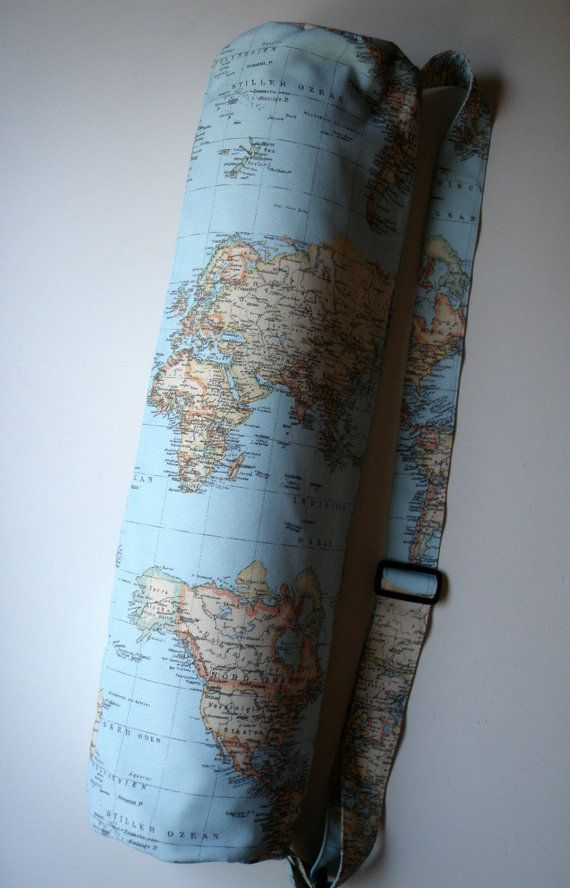 Result yoga mat bag and bag bag xl yoga mat bag blue world map handmade babimini gumiabroncs Gallery