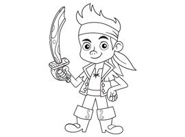 Jake and the Neverland Pirates COLORING PAGES Party Ideas