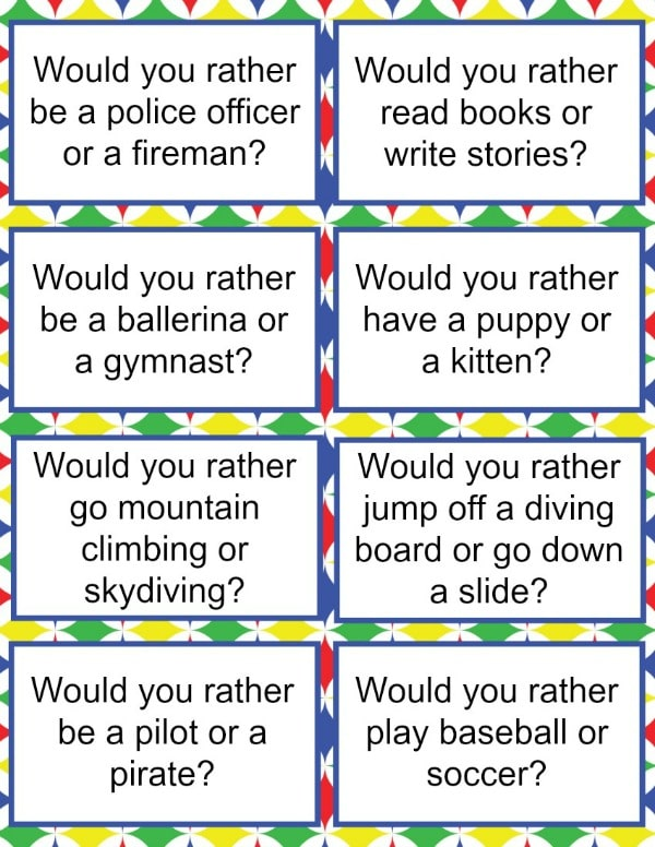 Would You Rather Questions for Kids in 2020 | Get to know