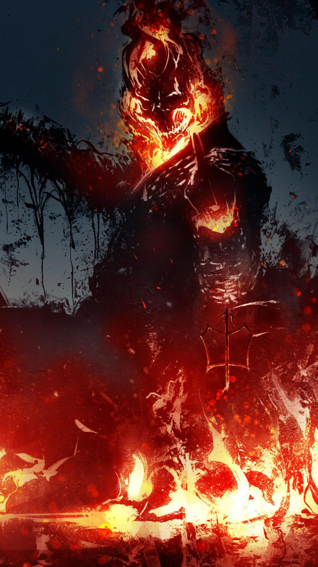 Ghost Rider New Artwork Mobile Wallpaper (iPhone, Android
