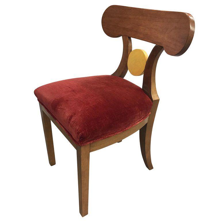 Fabulous French Art Deco Red Velvet Dining Chair In 2019 Greenwich Uwap Interior Chair Design Uwaporg