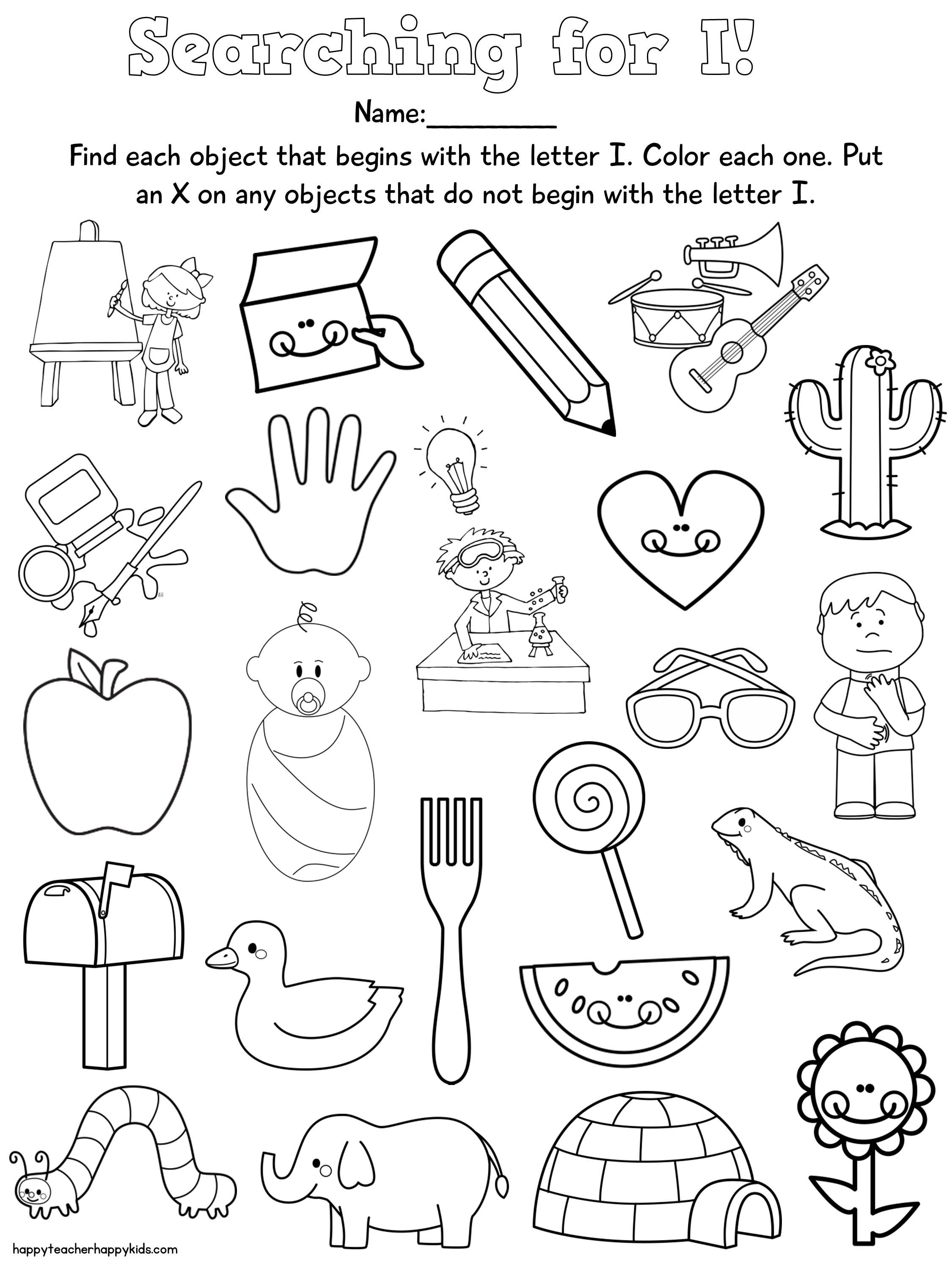 letter i alphabet kindergarten worksheets kindergarten literacy special education classroom. Black Bedroom Furniture Sets. Home Design Ideas