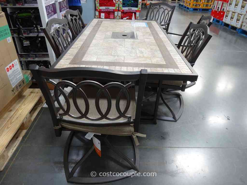 Furniture · Classic Kirkland Signature Piece Alumicast Dining Set Costco