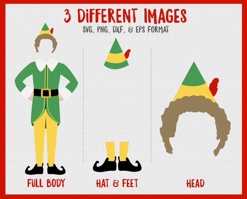 Buddy The Elf Christmas Svg Png Dxf Eps Holiday Movie Files Etsy Elf Christmas Card Elf Christmas Decorations Elf Themed Christmas Party