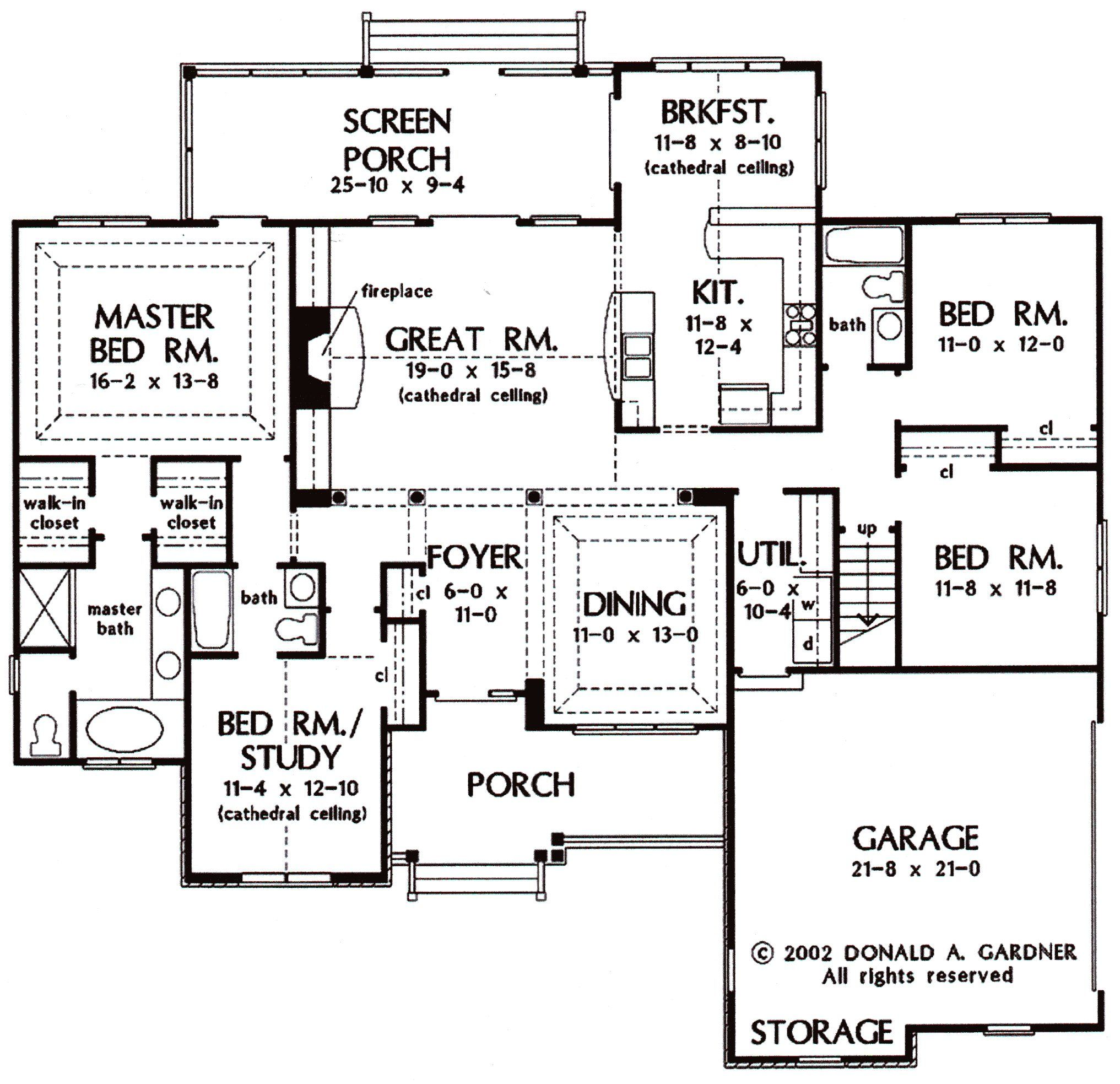 Free house plans 2000 sq ft house design ideas Free home plans