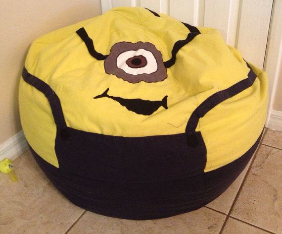 Magnificent Adult Size Bean Bag Cover Minion By Mmshandmade On Etsy Bralicious Painted Fabric Chair Ideas Braliciousco