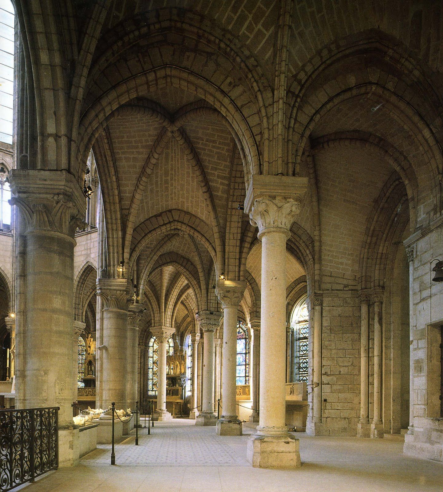 St Denis Architecture #13: Architecture · Ambulatory, St. Denis.