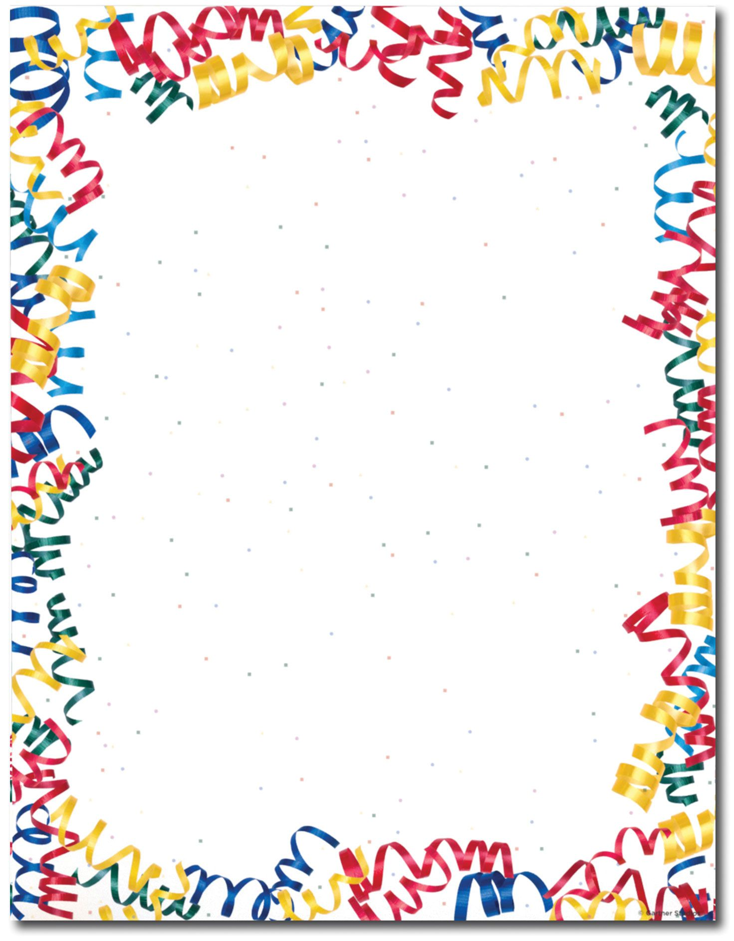 Displaying 17 Images For Birthday Confetti Border Streamer